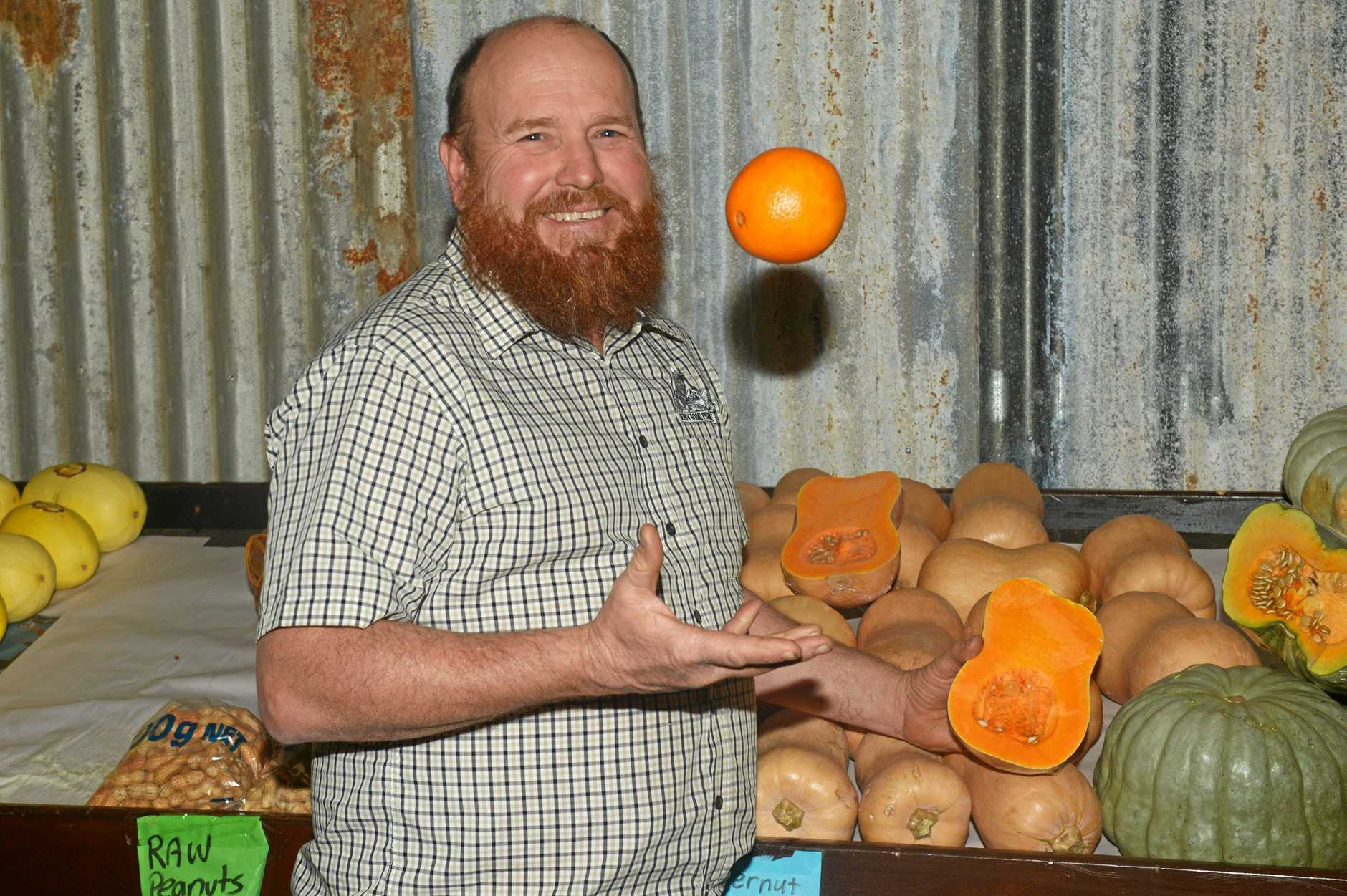 JUGGLING ACT: Mark Berry at his new Parkhurst shop, Berry Good Produce.