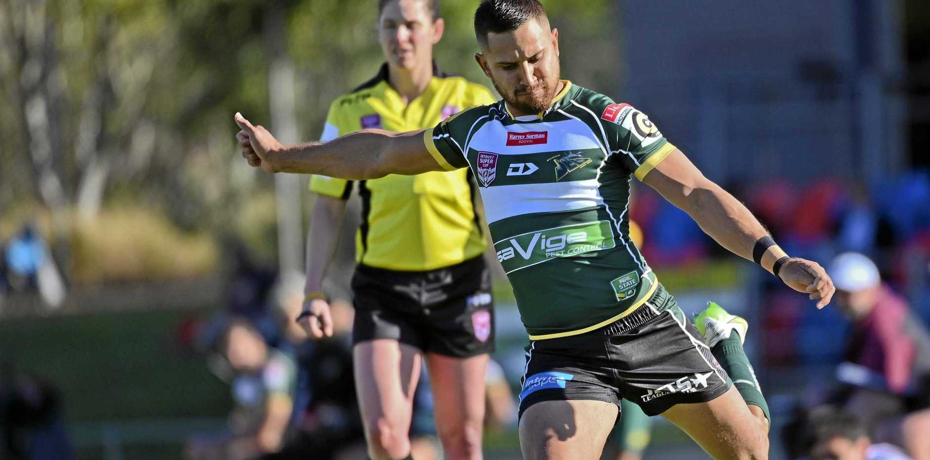 KICKING ON: Ipswich Jets back Marmin Barba and his teammates are looking to compile a convincing win on Saturday night after some recent near misses.