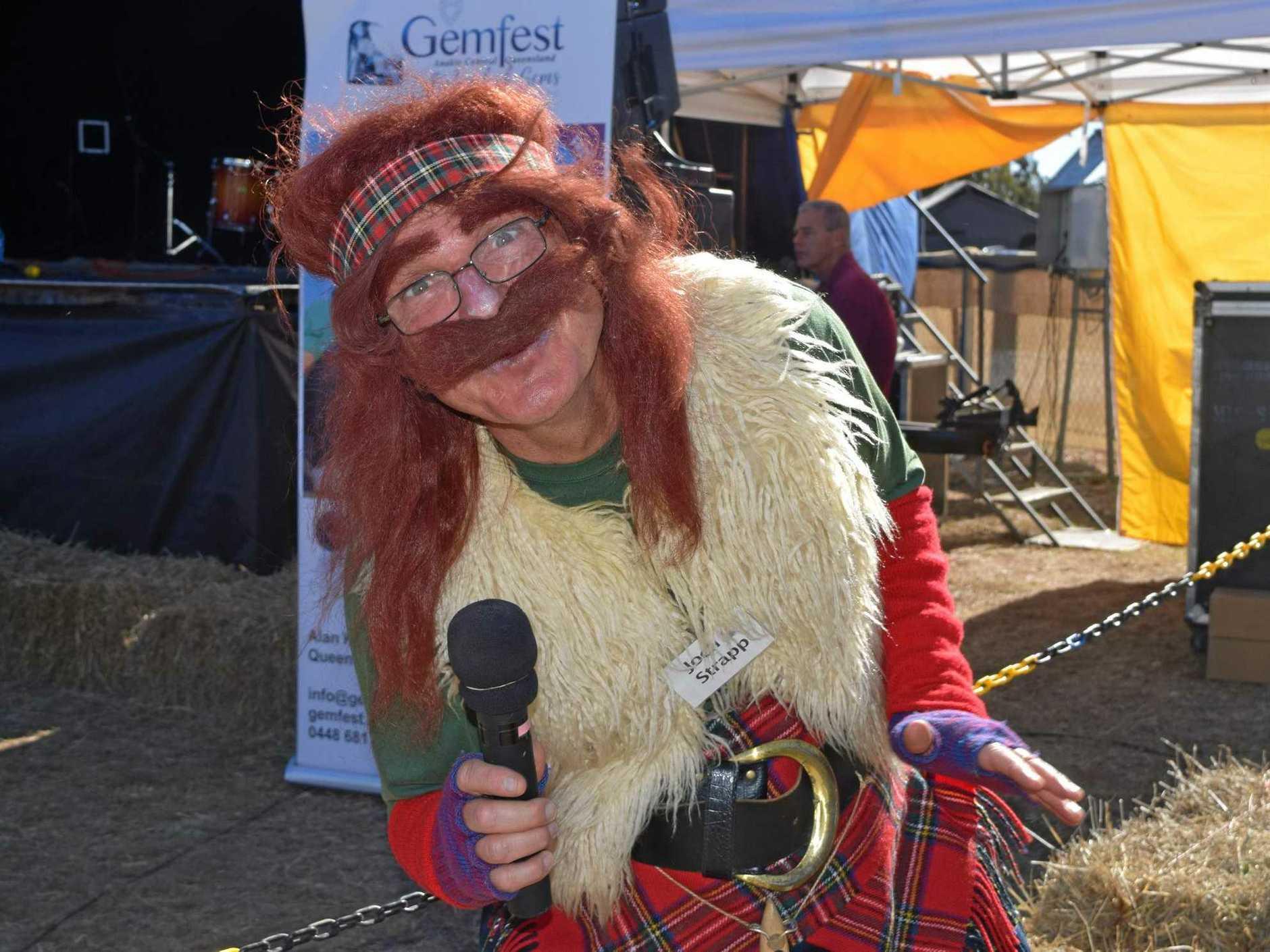 OH AYE: Gemfest's MC for Friday was Scottish Highlander Joch Strapp.