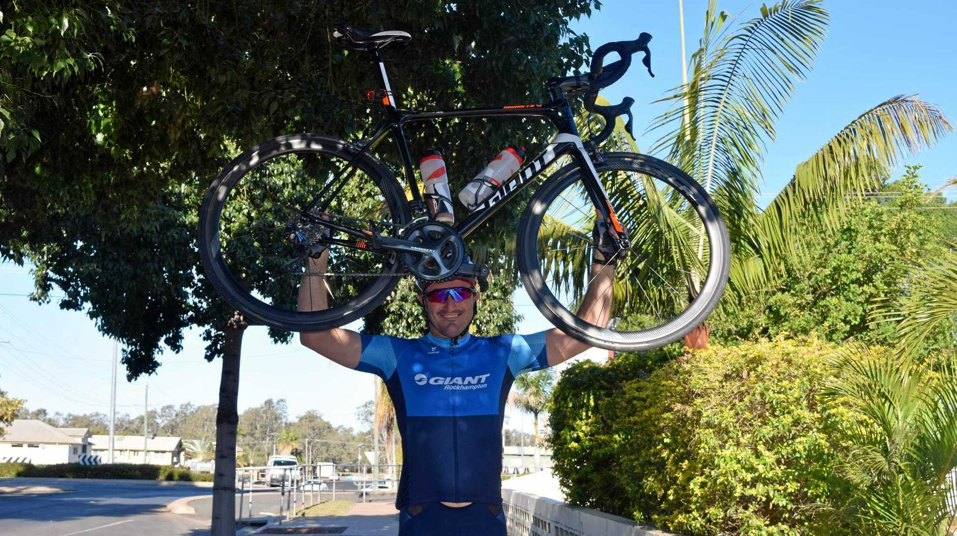 PEDAL TO THE METAL: Emerald resident Ian Mallyon is cycling 1600 kilometres from Townsville to Brisbane to raise money for a skin cancer foundation.