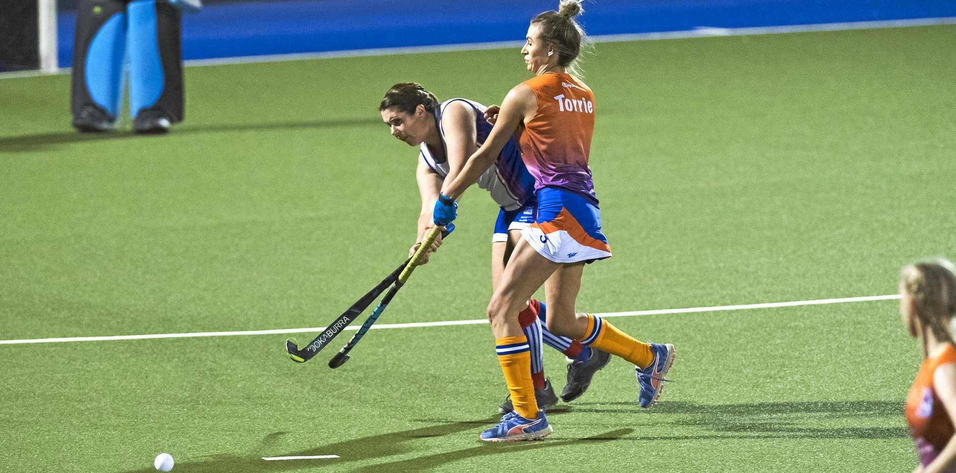 PRESSURE ON: Torrie Thies applies pressure on the ball during a match against Rangeville.