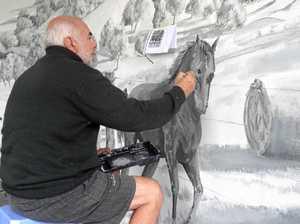 Artist muses on mural magic