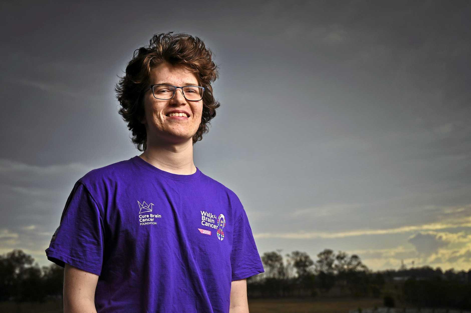 FIGHTER: Kieran McLeod is organising the 2019 Ipswich Walk 4 Brain Cancer event in Limestone Park. The inaugural walk was held last year.