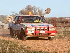 Forty-two car rally convoy en route to Toowoomba