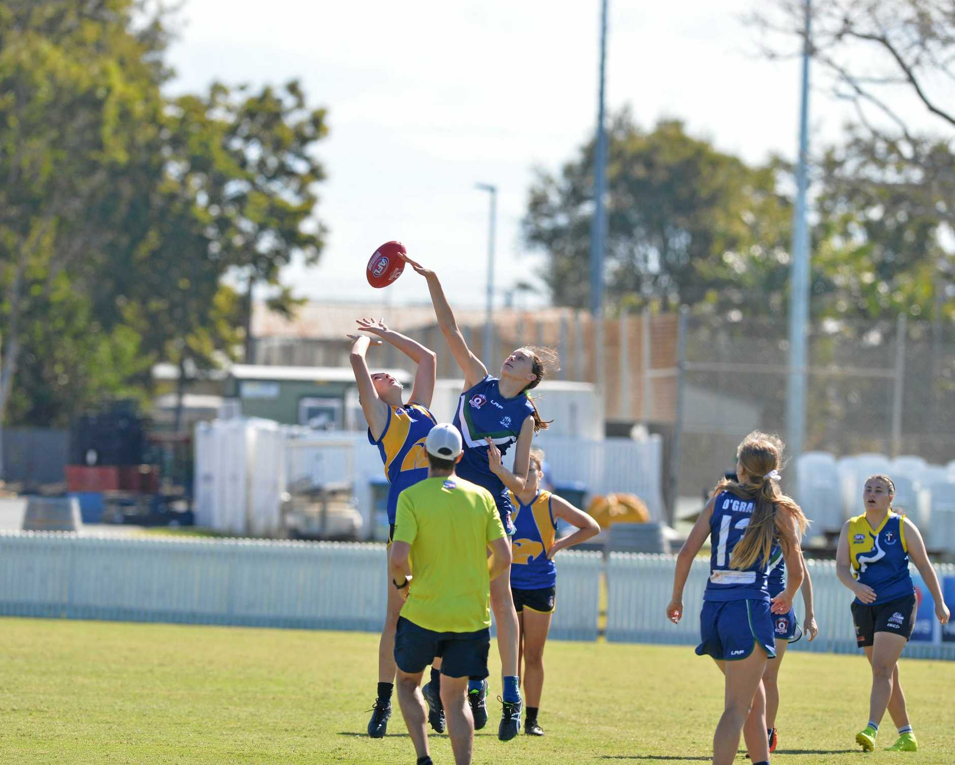 The Cathedral College 2.8 (20) defeated Holy Spirit College 1.3 (9) in the NQ Championship final at the AFL Queensland Schools Cup North Queensland Championships at Harrup Park on Wednesday, August 14.