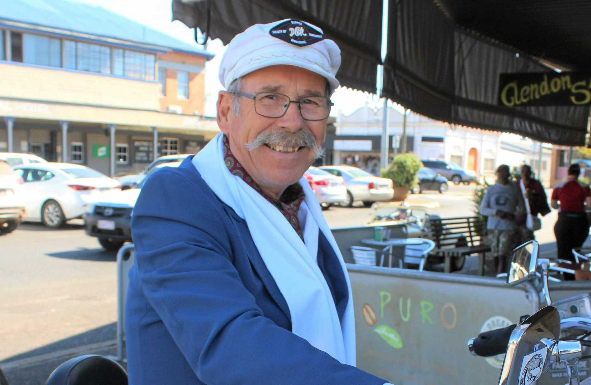 BURNETT BIKER: Graham Rattleledge is looking forward to participating in his 7th Distinguished Gentlemen's Ride next month in Brisbane.