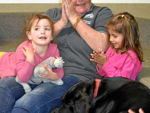 Frankie the Story Dog reads Fetch with the children