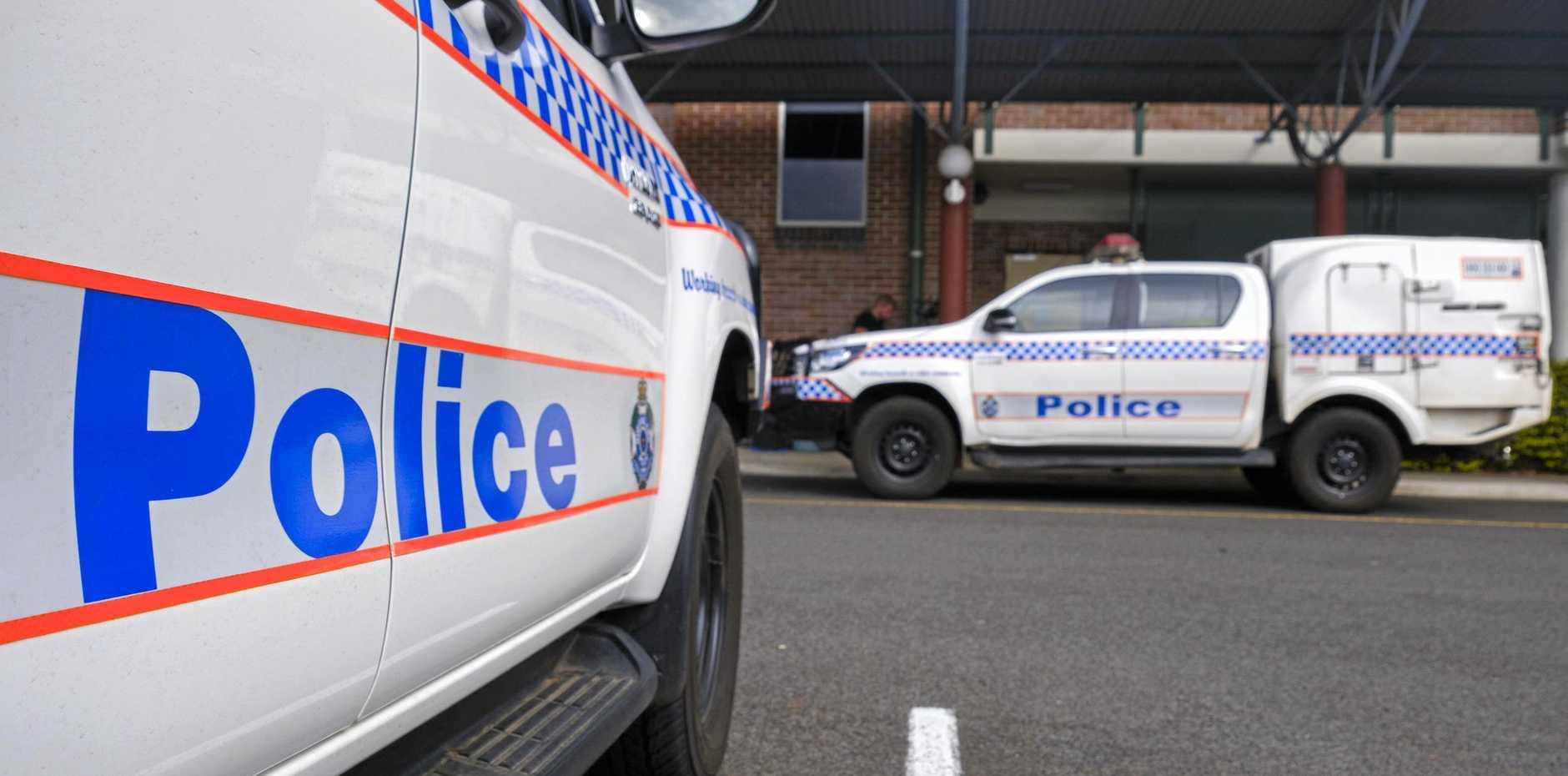QPS: Police cars at the Bundaberg station.