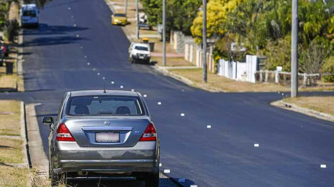 Parked car creates road block for council upgrades