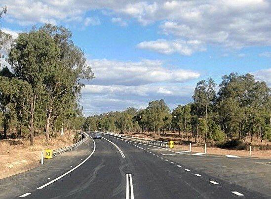 The new Lochaber Creek Bridge on the Burnett Highway has opened to traffic following a $9.76 million upgrade.