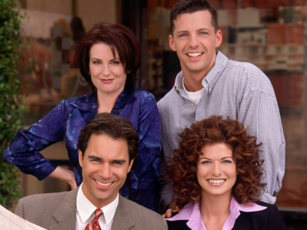 Megan Mullally, Sean Hayes, Debra Messing and Eric McCormack when Will & Grace first aired. Picture: Supplied