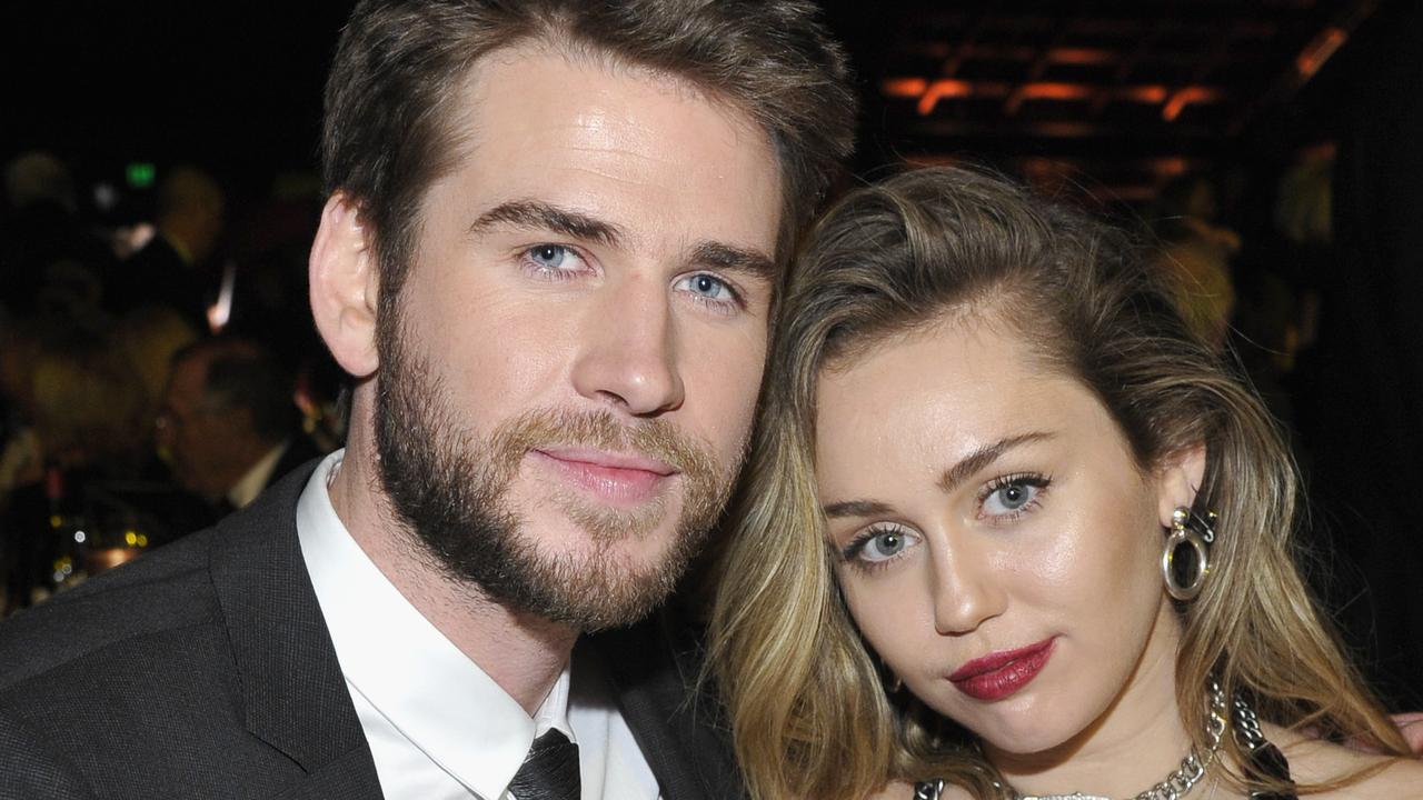 Liam Hemsworth and Miley Cyrus at the 2019 G'Day USA Gala in January. Picture: John Sciulli/Getty Images