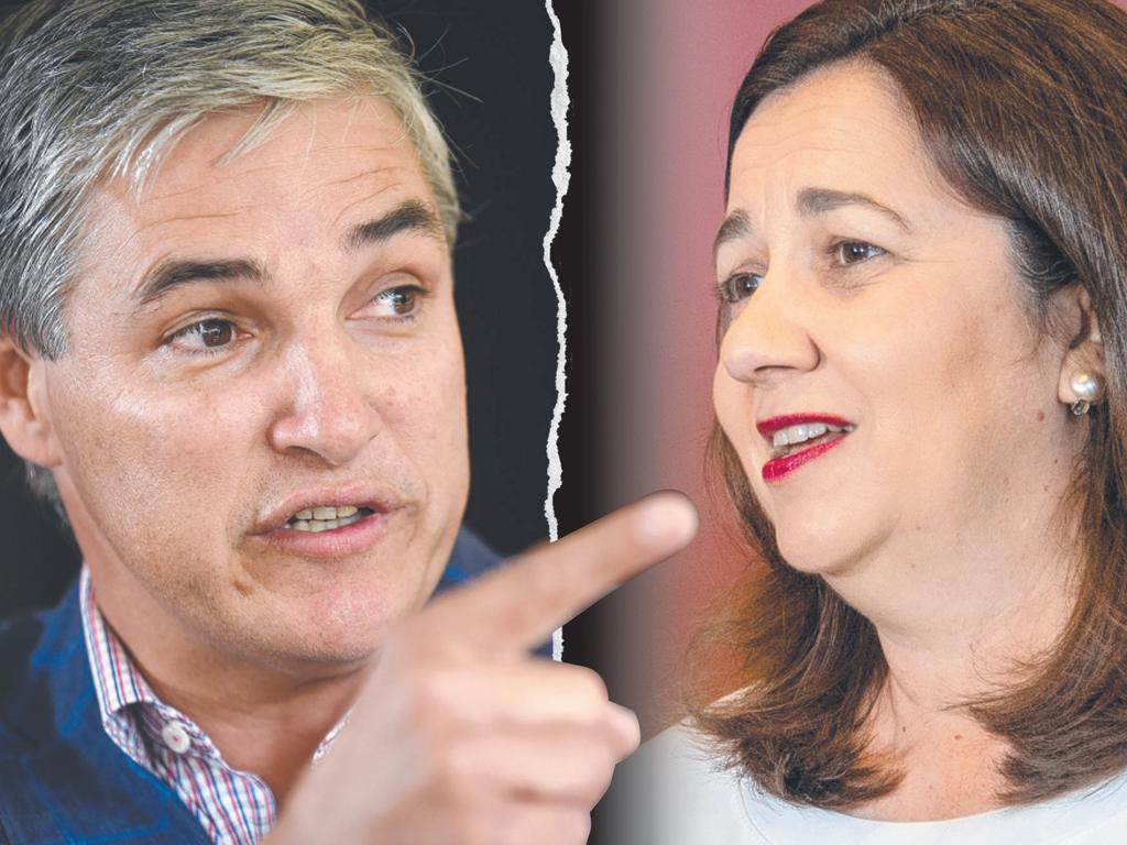Katter's Australian Party state leader Robbie Katter and Premier Annastacia Palaszczuk