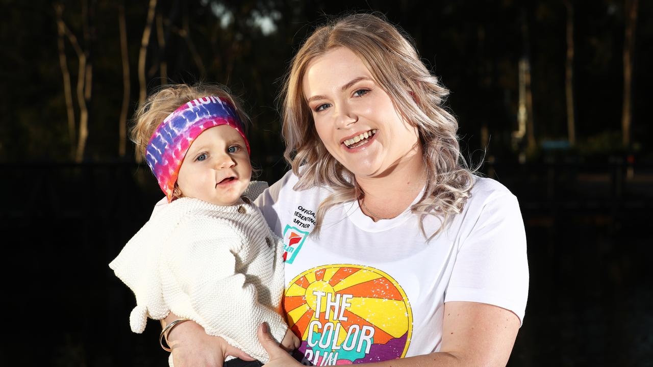 Juanita Simpson will be competing in this years Colour Run at Broadwater Parklands to raise money for the Starlight Foundation. Photo: Jason O'Brien