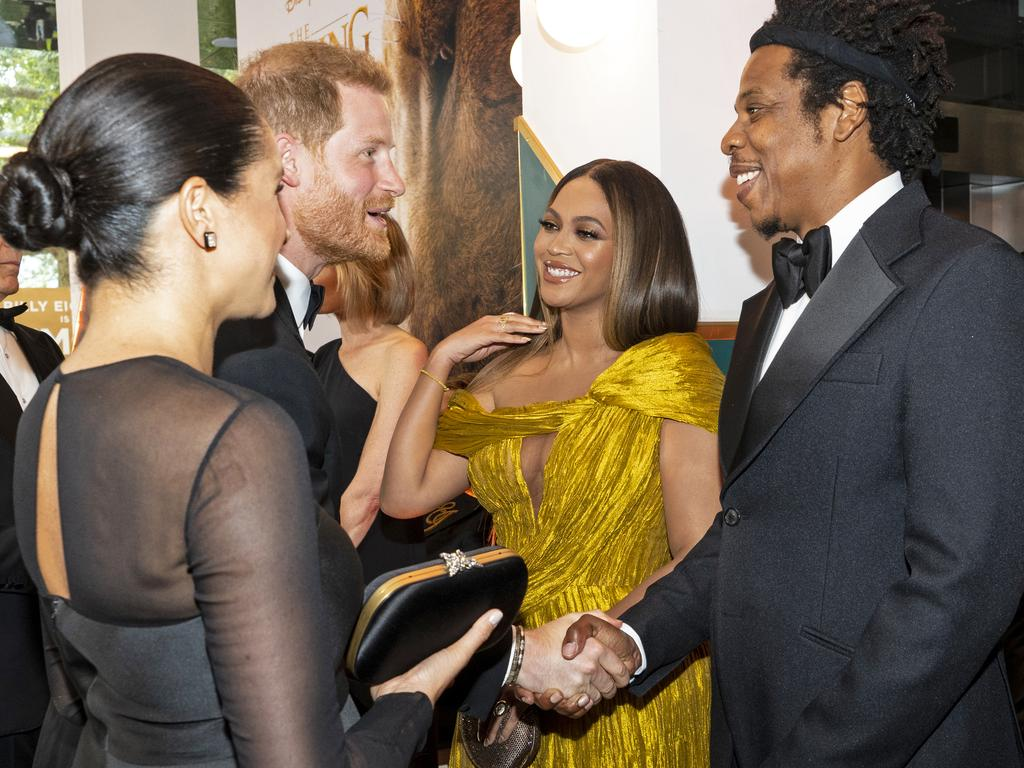 Prince Harry, Duke of Sussex and Meghan, Duchess of Sussex (2nd L) meet Beyonce and Jay-Z. Picture: Getty