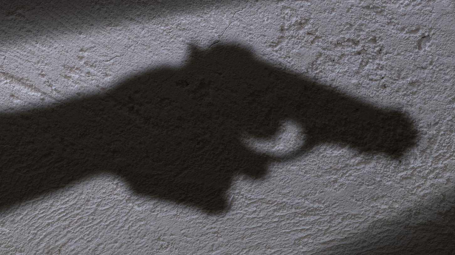 Shadow and gun