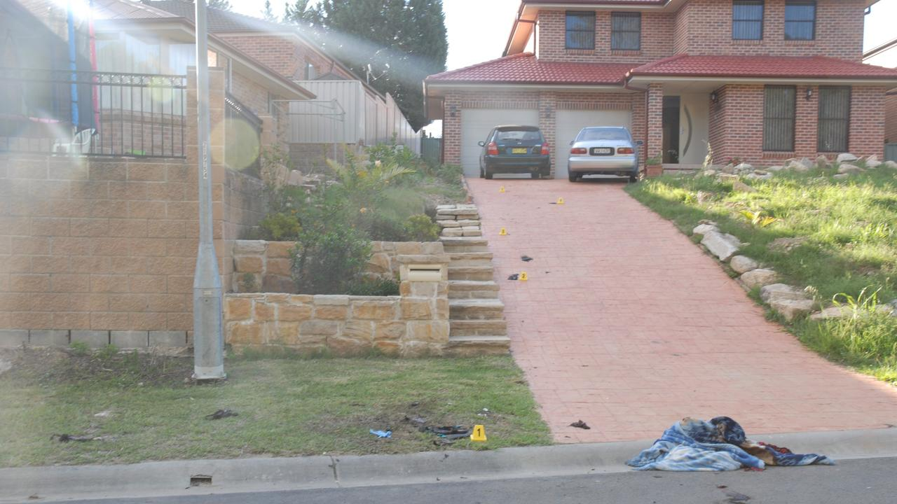 The couple's home and driveway at Rouse Hill following Ms Kaur's death.