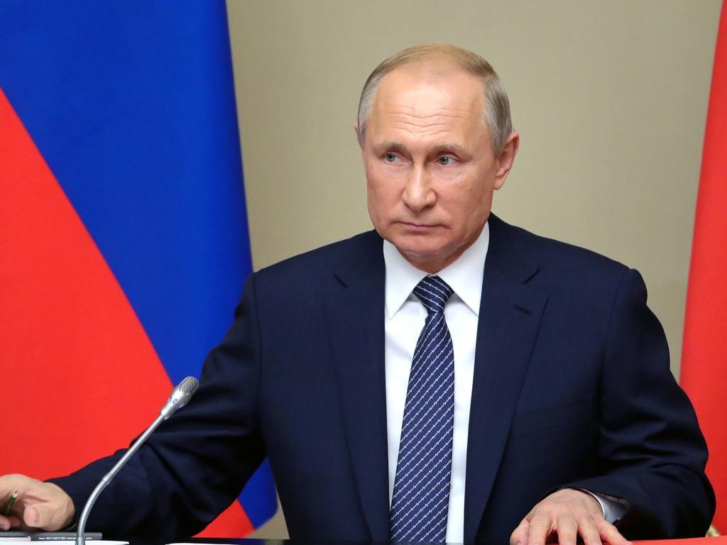 Russian President Vladimir Putin unveiled the Burevestnik missile in 2018. Picture: Mikhail Klimentyev, Sputnik, Kremlin Pool Photo/AP
