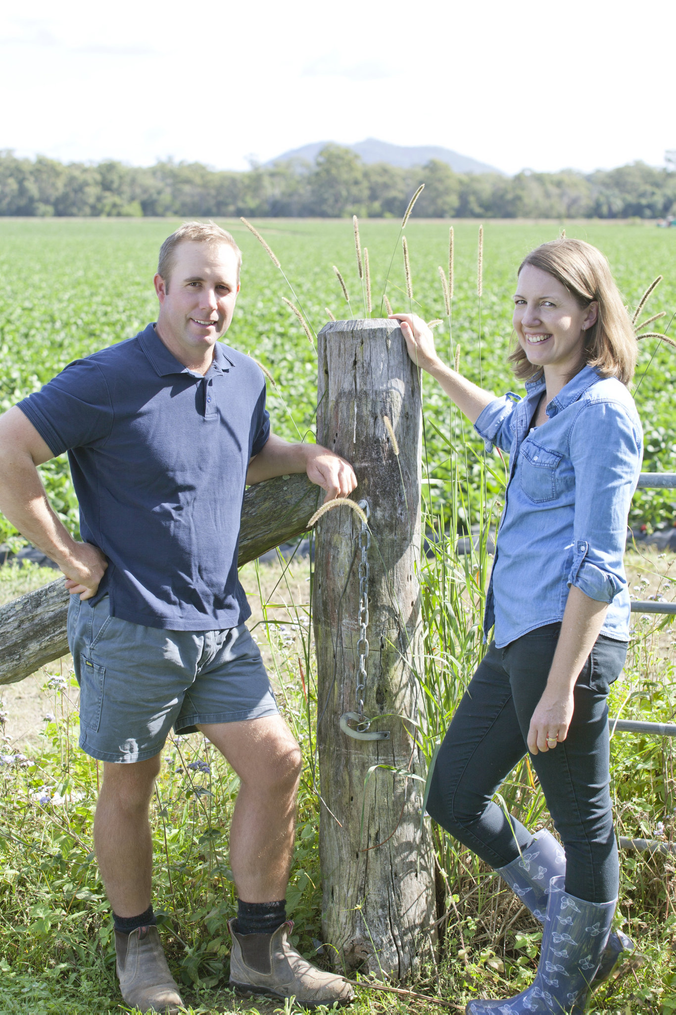 GROWTH INDUSTRY: Brendon and Ashleigh Hoyle at Ashbern Farms.