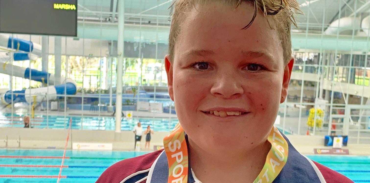 SWIMMING STAR: Tyler Seagrott picks up gold at Australian Swimming Championships.