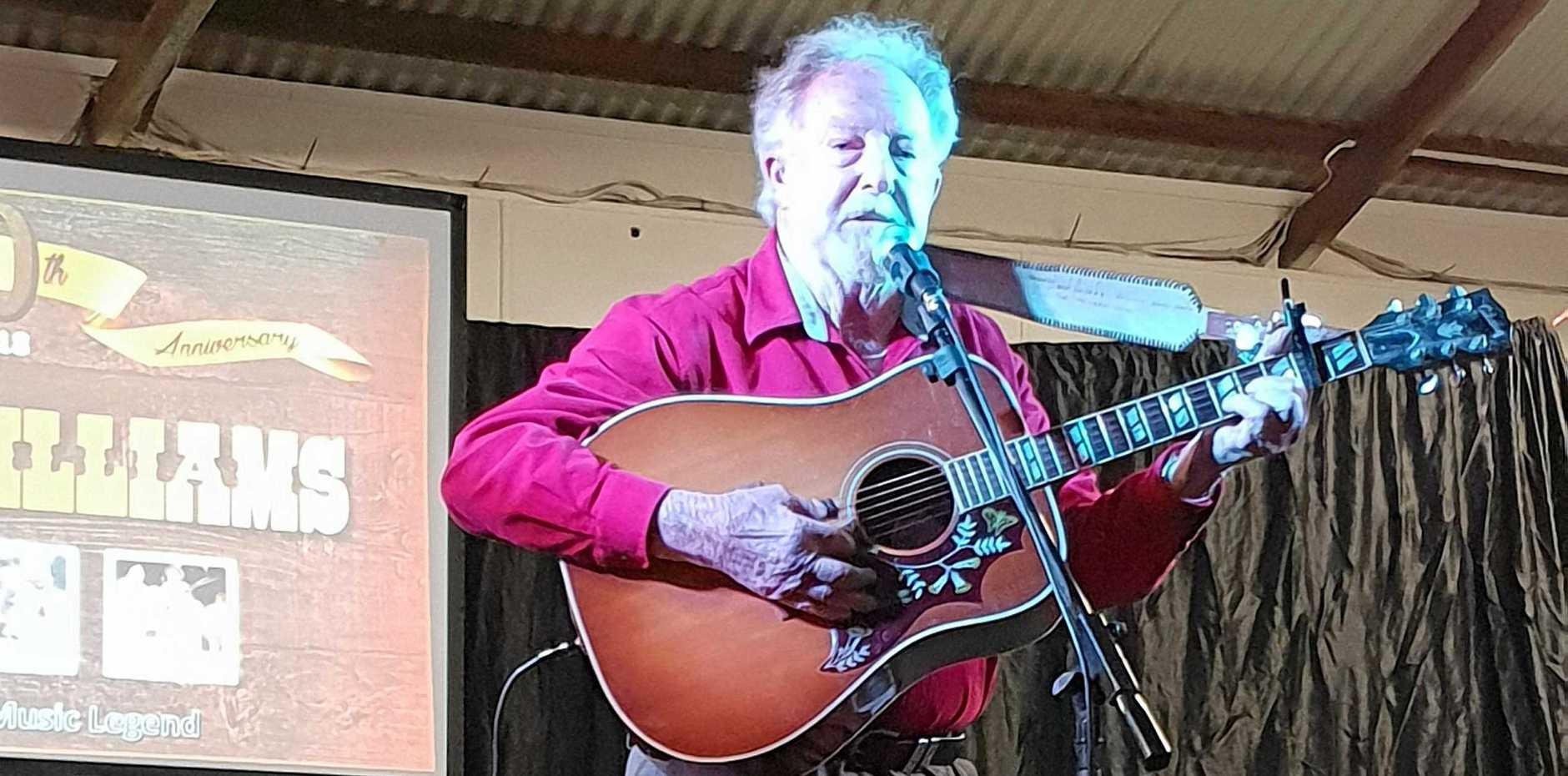 TRUE BLUE: Trevor stayed with singing in Aussie style.