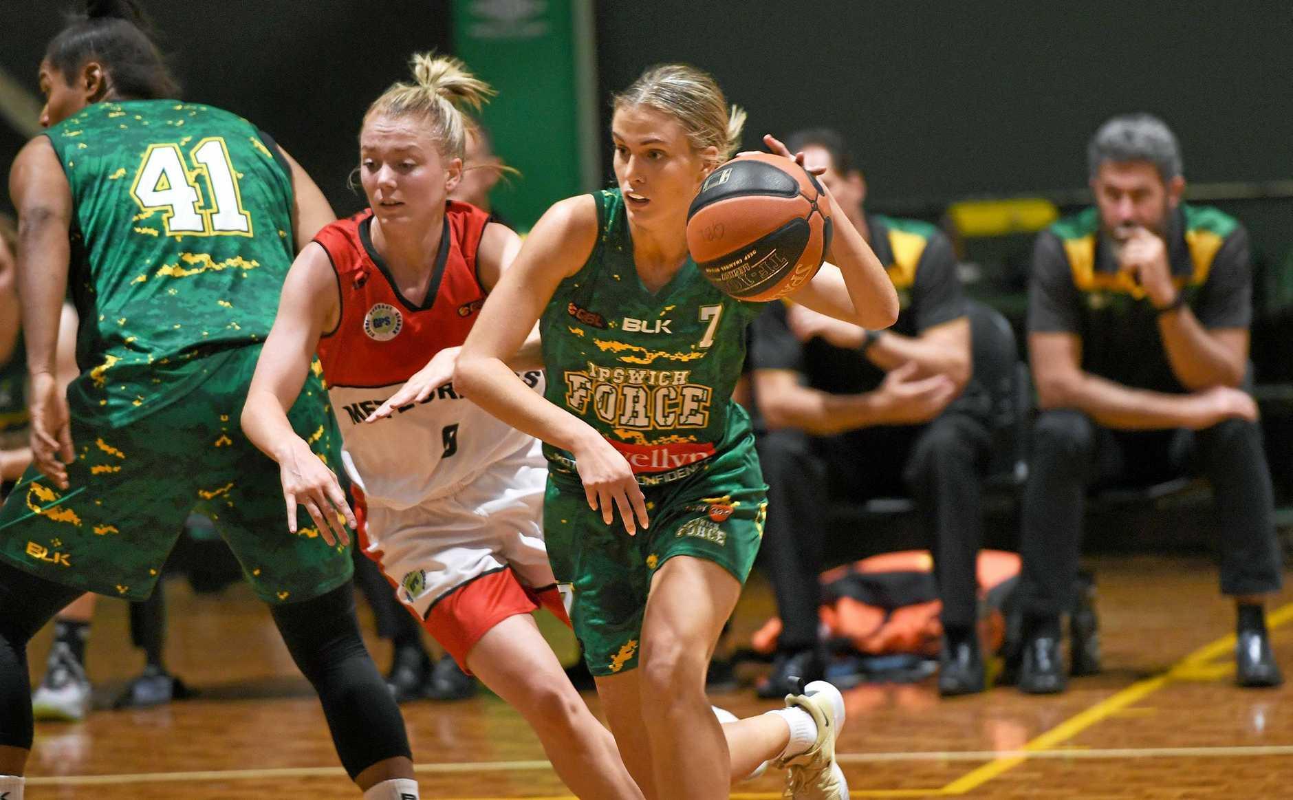 Ipswich Force V Mackay women played at Ipswich Basketball Stadium on Sunday. Georgia Williams