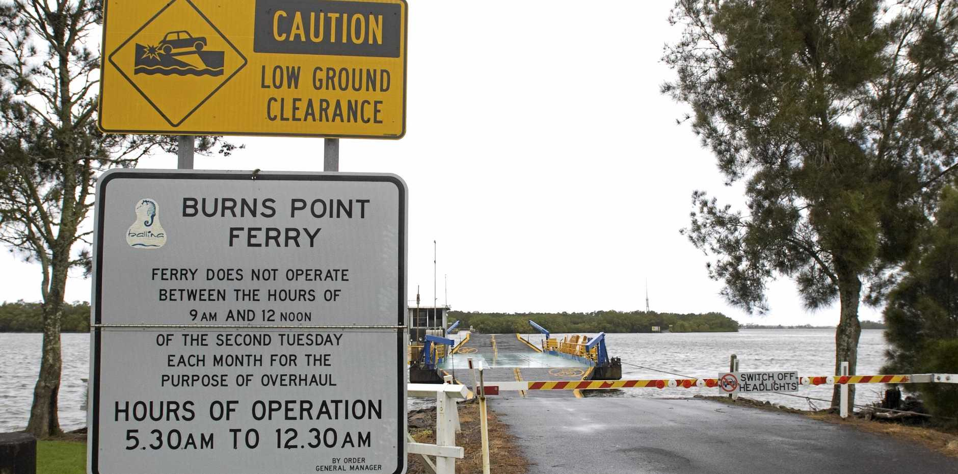 A man who crashed over Burns Point Ferry and into the Richmond River while drunk has faced court.