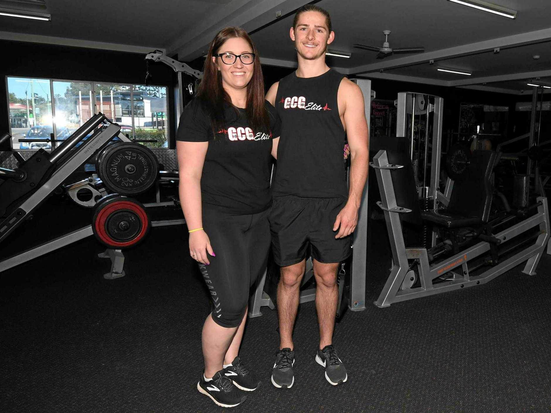 JOIN THE CLUB: Ashleigh Rimmington and Louie Langmead of Gympie City Gym are taking a team to the Gold Coast Spartan Race next month.