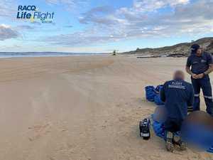 Man injured on Fraser Island
