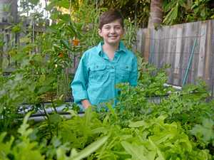 Anya sells mini gardens and tasty veges for pocket money