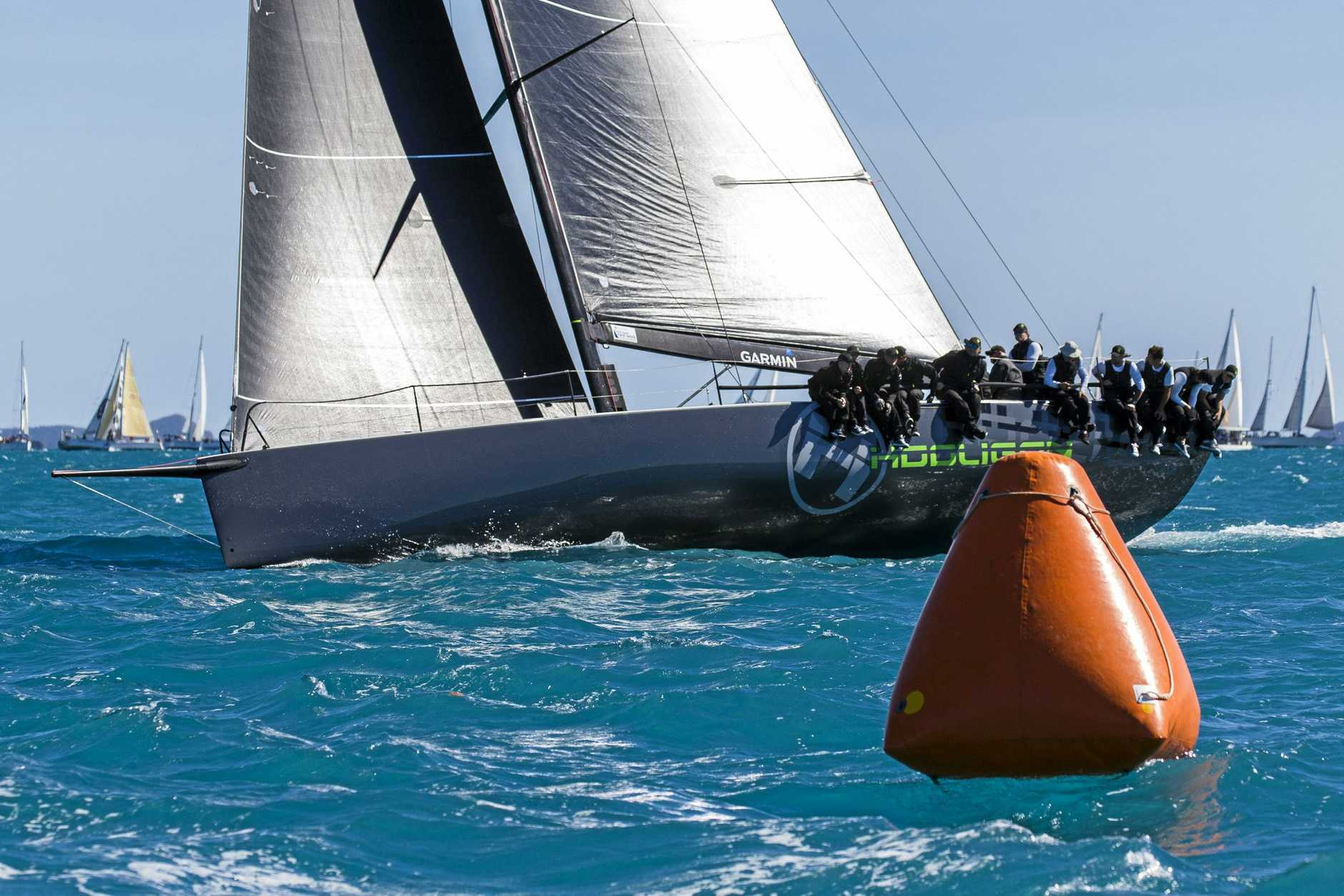 Hooligan won the final race to take out the IRC division at Airlie Beach Race Week.