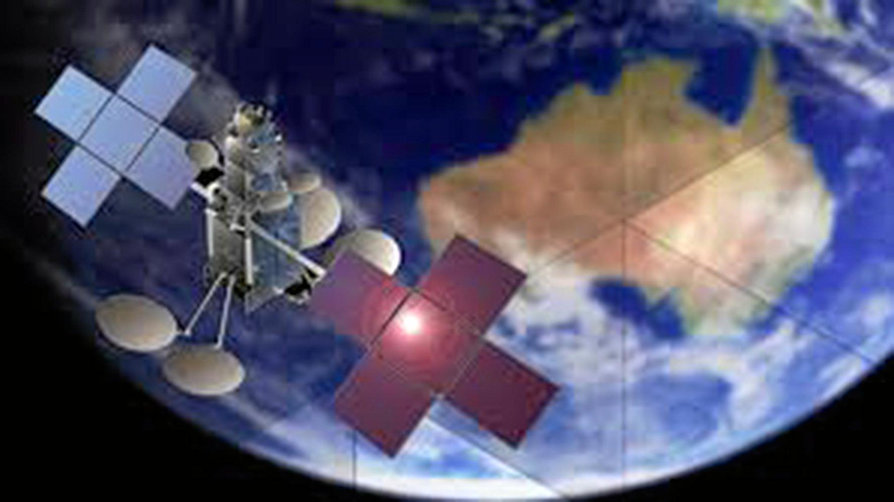 REGIONAL CONNECTIVITY: An artists impression of the Sky Muster satellite.
