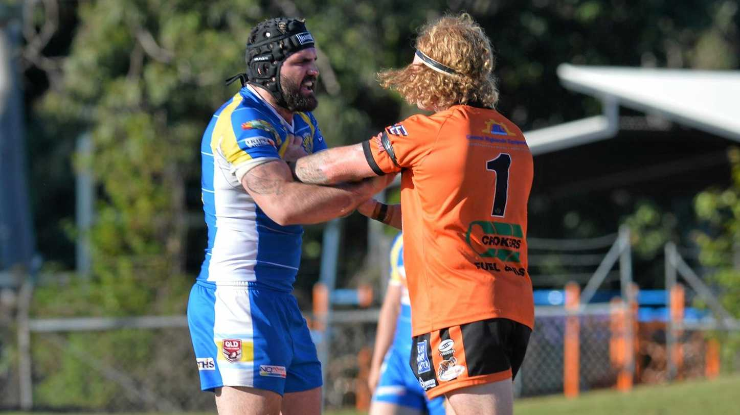 OUT: Brendan Treston (left) is back with the Cutters and will miss the Sharks' final against Wests this weekend.