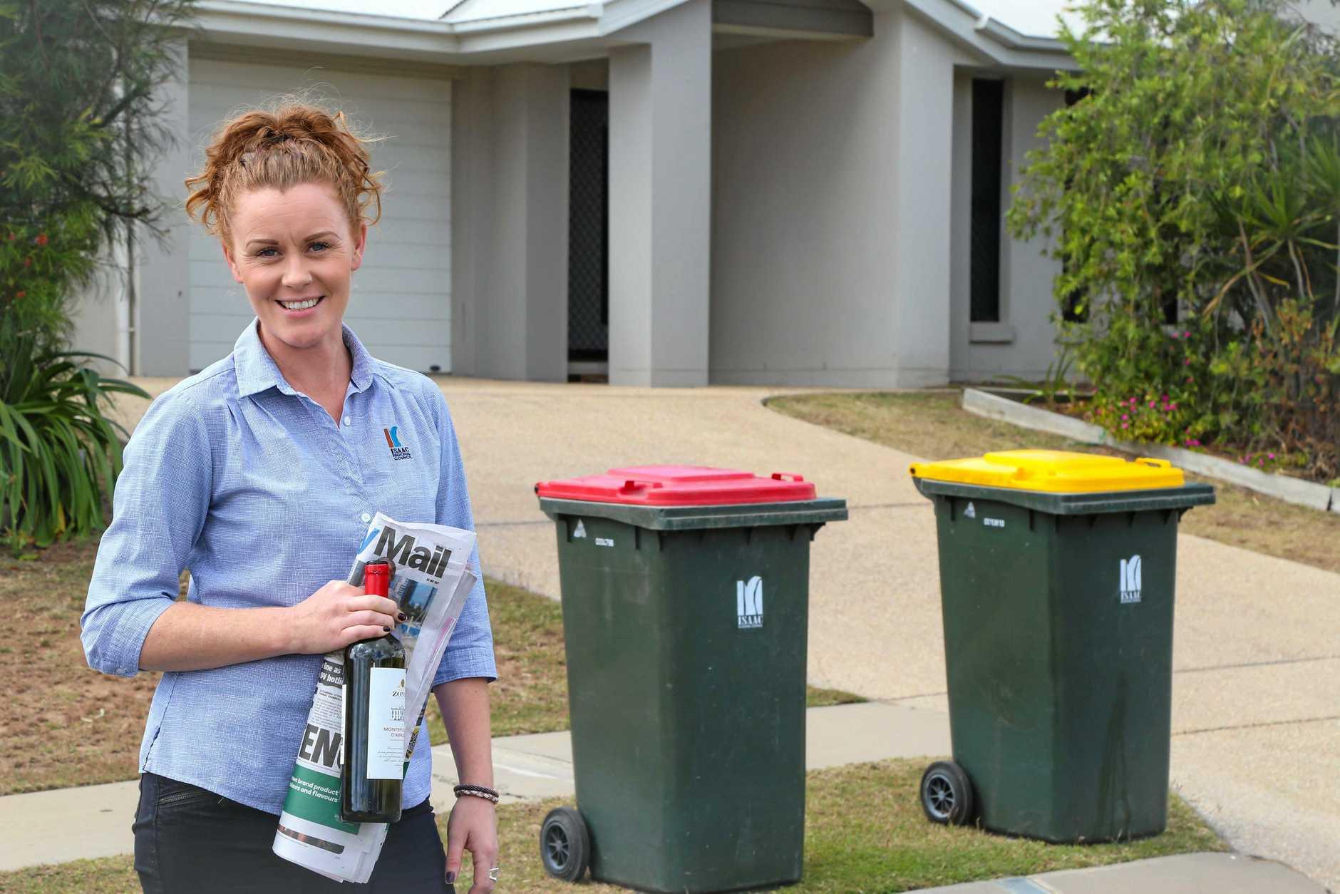 MONEY SAVER: Isaac Regional Council waste management team member Sara Sheridan.