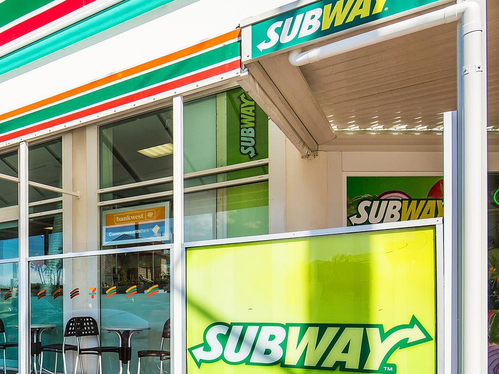A Subway outlet adjoining a 7 Eleven at Main Beach on the Gold Coast