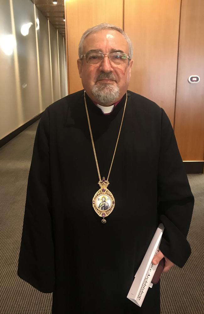 Archbishop Haigazoun Nazarian from the Armenian Apostolic Church.