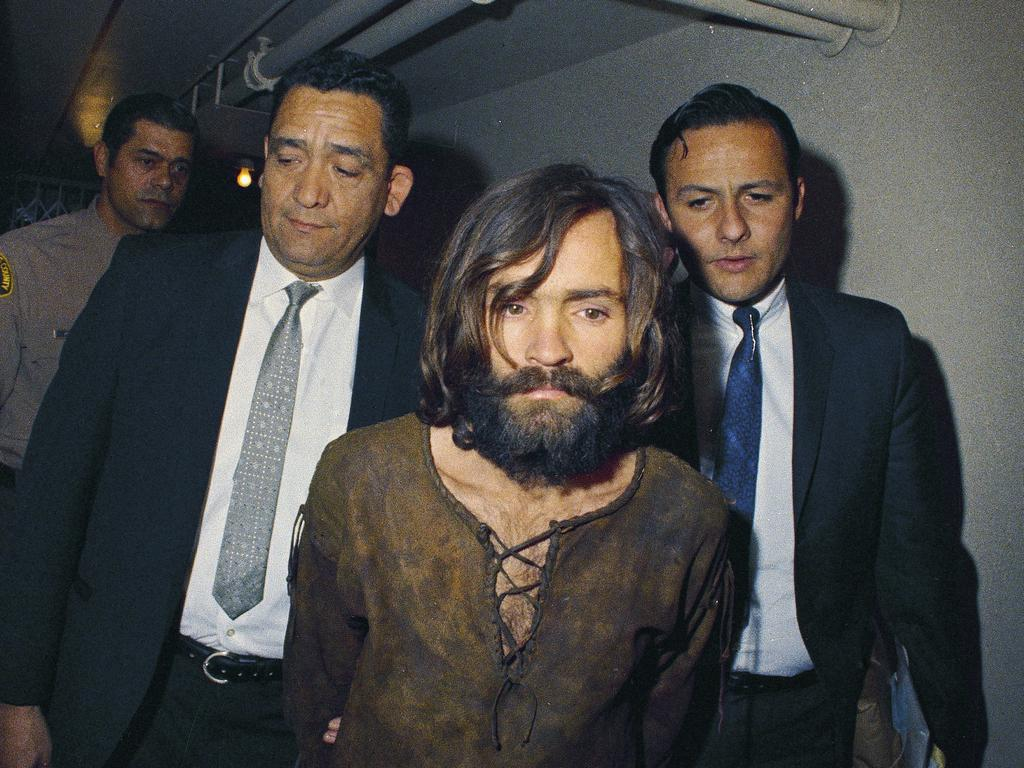 Charles Manson was found guilty of murder in the Sharon Tate case, even though he was never at the scene of the crime. Picture: AP Photo