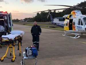 Couple hospitalised, dog killed in goanna attack
