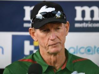 Wayne Bennett's Rabbitohs will take on the Broncos on Friday night.