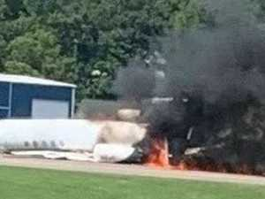 Motorsport legend survives fiery plane crash