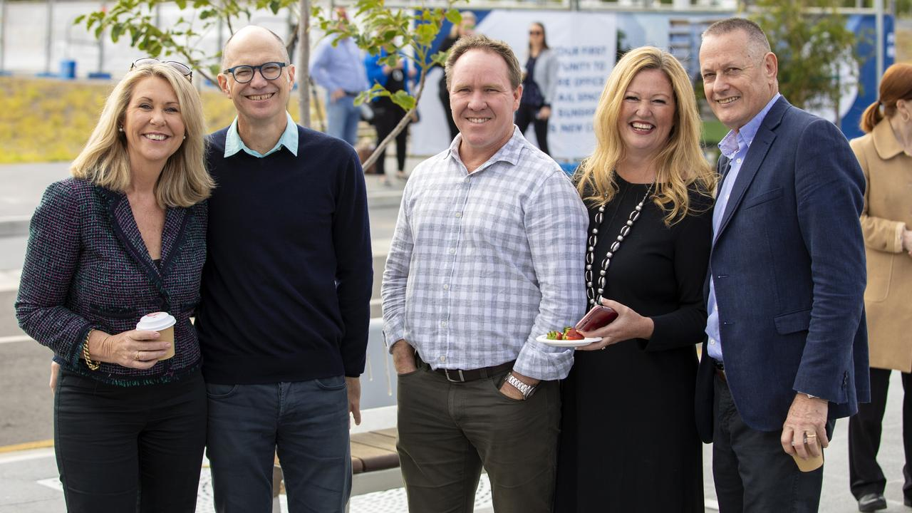 WONDER WOMAN: Jeanette Allom-Hill (second from right), pictured with Jennifer Swaine, Paul Kusy, Matthew Yates and John Knaggs, is a welcome addition to the council.