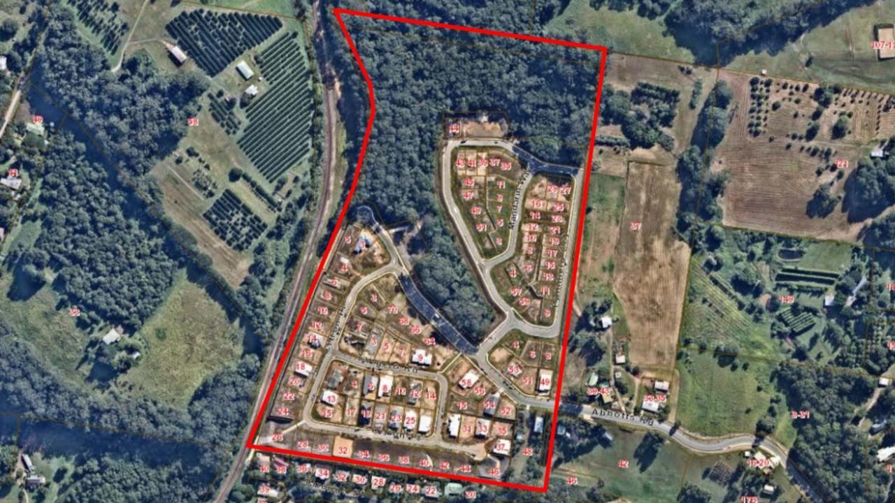 DUPLEX DENIED: Habitat Palmwoods development's location and surrounds. Picture: Contributed