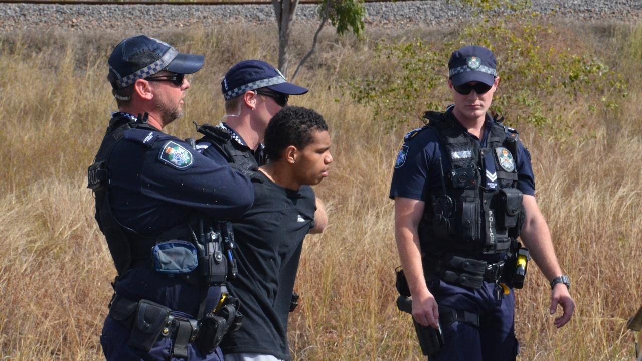 A man is taken into custody on the Flinders Hwy.