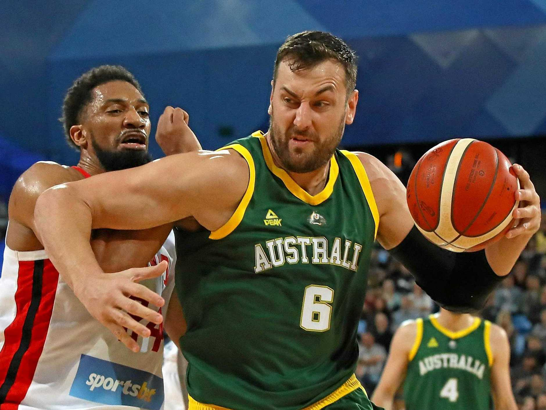 Australia's NBA stars stood up against Canada in game two at the  weekend. (Photo by Paul Kane/Getty Image)