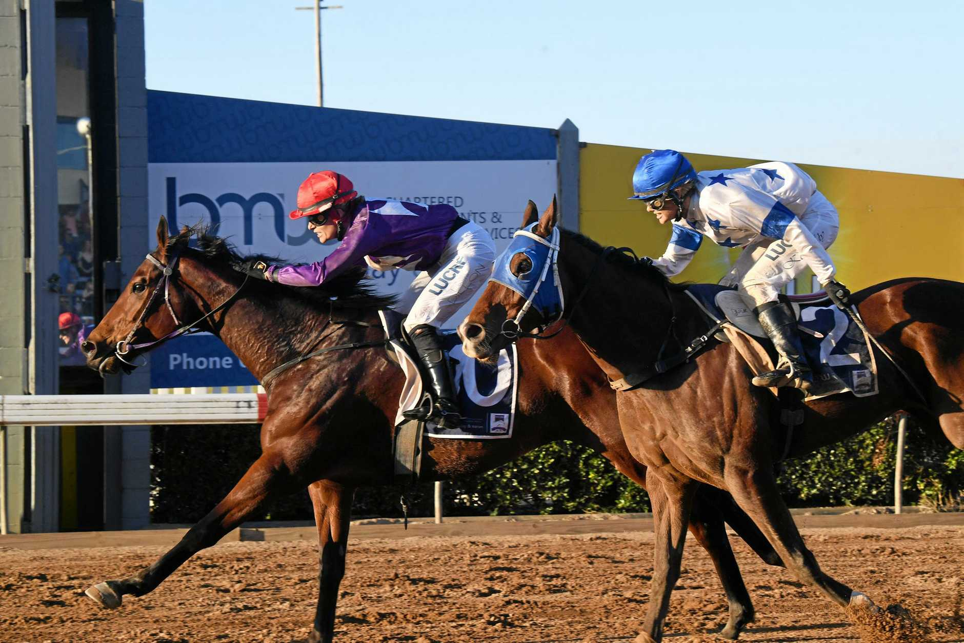 Nolan Gympie Muster Cup Race 5 - horse Grande Casadora and jockey Louise Dillon win the main race.