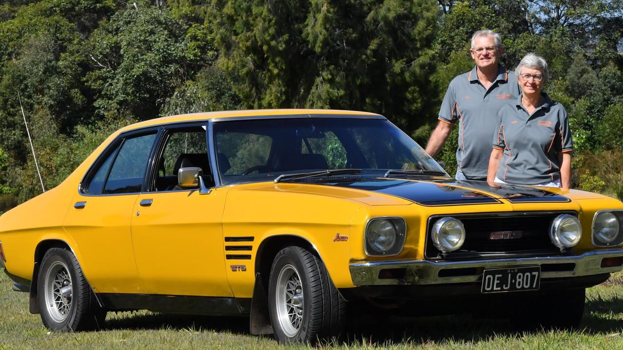 PRIDE AND JOY: The 1973 HQ Holden Monaro owned by Bill and Karen Ryan. Picture: John McCutcheon