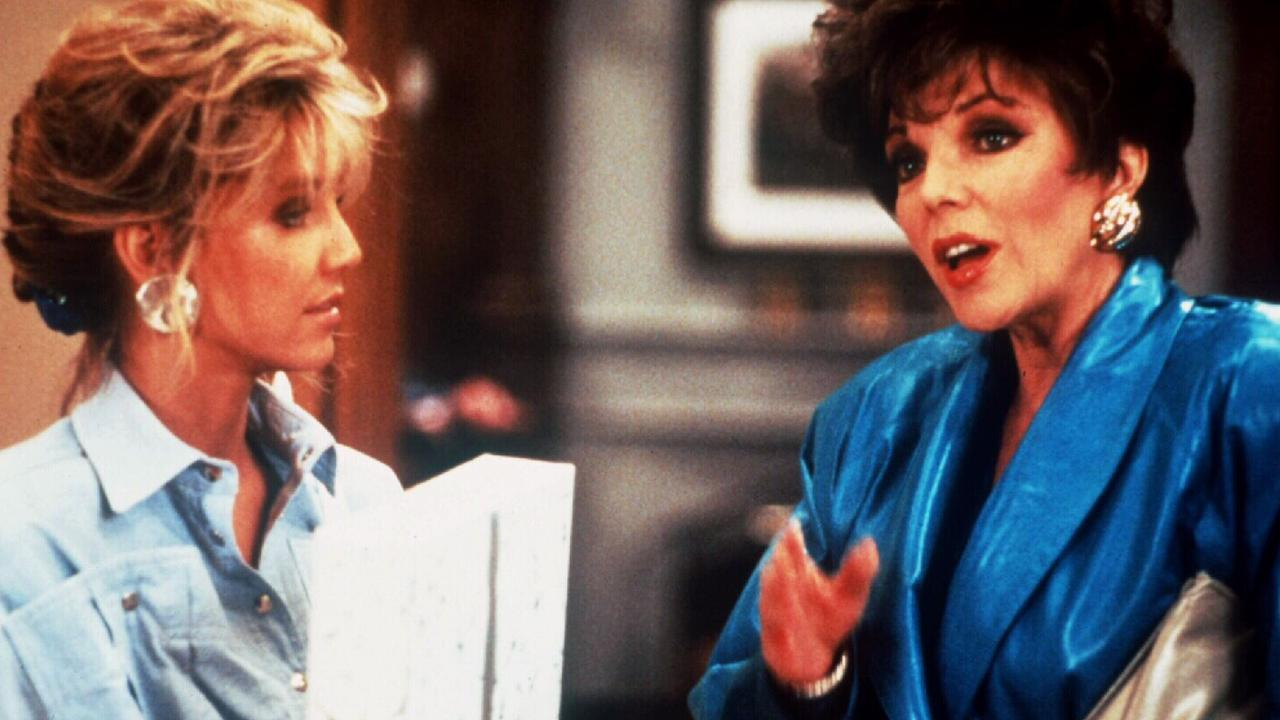 Acting alongside Joan Collins in Dynasty.