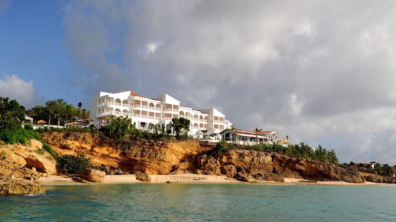 A hotel room death has rocked the quiet, idyllic holiday island of Anguilla in the Caribbean Sea. Picture: Auberge Resorts