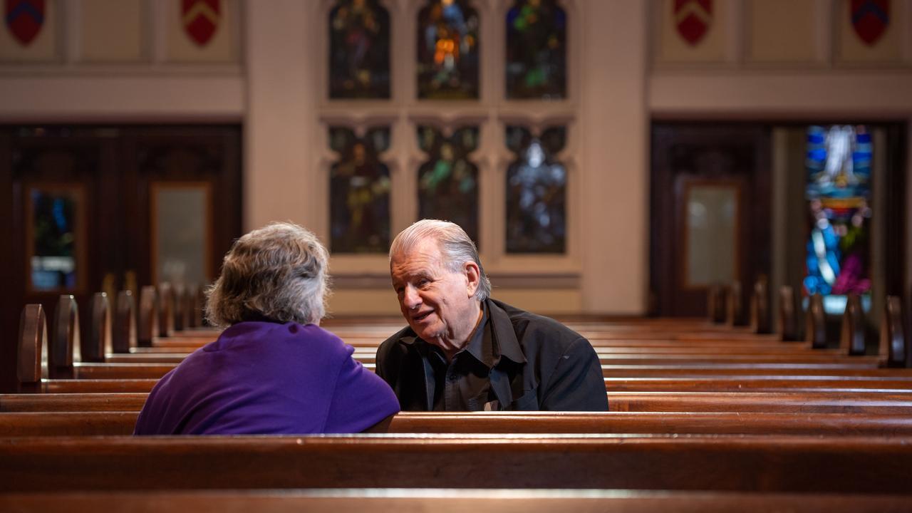 Guiding light: Rev Crews in the Ashfield Uniting Church this week. (AAP IMAGE MONIQUE HARMER)