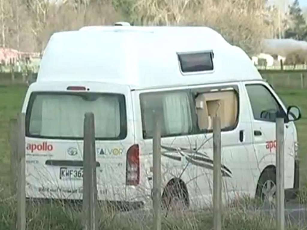 The campervan involved in the shooting. Picture: 7News
